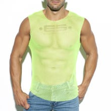 ES Collection TS260 Mesh Broad Tank Top yellow|SUPERSALE
