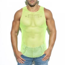 ES Collection TS261 Mesh Tank Top yellow