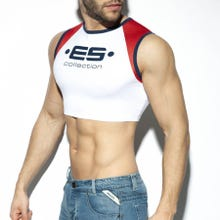 ES Collection TS267 Muscle Crop Top white|SUPERSALE