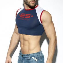 ES Collection TS267 Muscle Crop Top navy