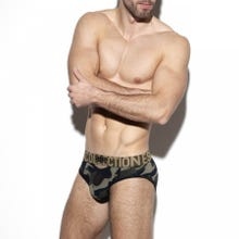 ES Collection UN321 Double Opening Mesh Brief camouflage|SUPERSALE