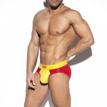 ES Collection UN374 Flags Brief yellow/red|SUPERSALE