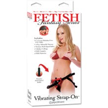 Fetish Fantasy - Vibrating Strap-On Set red Umschnalldildo | SUPERSALE