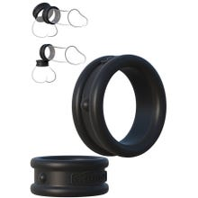 Fantasy C-Ringz - Max-Width Silicone Rings black