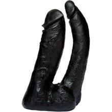 16 x 2,5 und 4 cm Vac-U-Lock Double Penetrator black